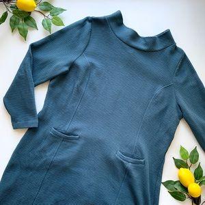 Boden Marion Ottoman Tunic Dress US 16 Blue